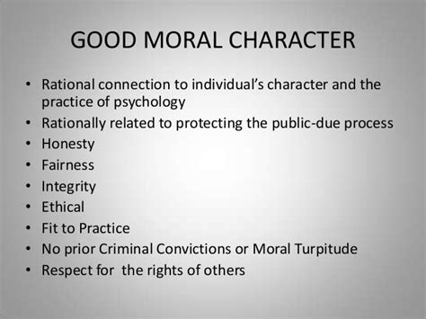 Moral Character Letter For Husband Apa And Asppb Model Act Provisions Application Fraud And Moral