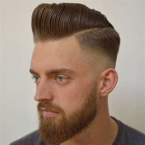 pompadour hairstyle pictures 27 men s fade haircuts hairs picture gallery