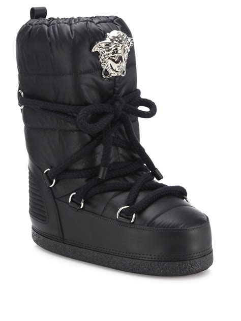 versace boots for versace snow boots in black lyst