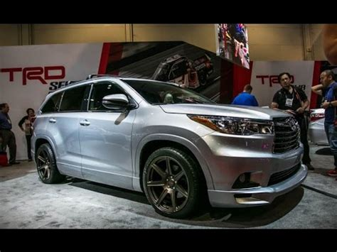 toyota highlander trd concept review rendered price specs