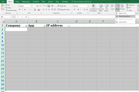 delete sheet rows how to delete blank rows in excel the right way new 2017