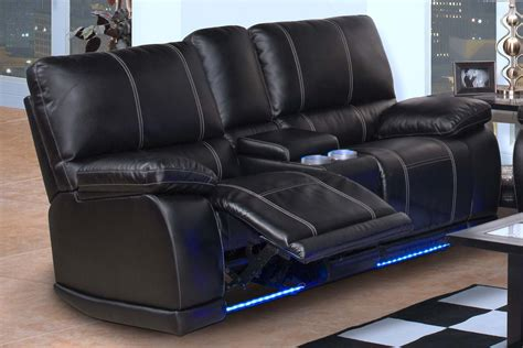 Dual Recliner Loveseat With Console nottingham black dual recliner console loveseat for 769 94 furnitureusa