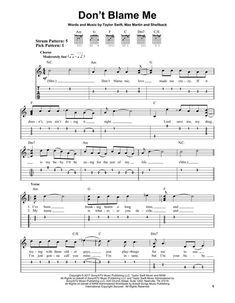don t blame me by taylor swift download don t blame me by taylor swift easy guitar tab guitar