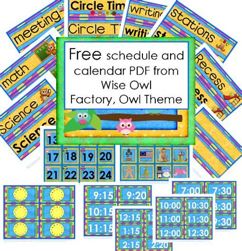 Themes In Literature Wise Owl | free owl theme schedule and calendar pdf 40 pages from
