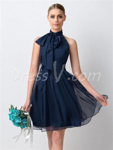 Simple Blue Dress navy blue chiffon bridesmaid dresses 2016 simple