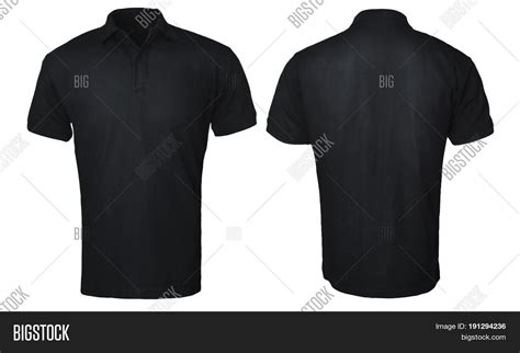 black t shirt design template blank polo shirt mock template image photo bigstock