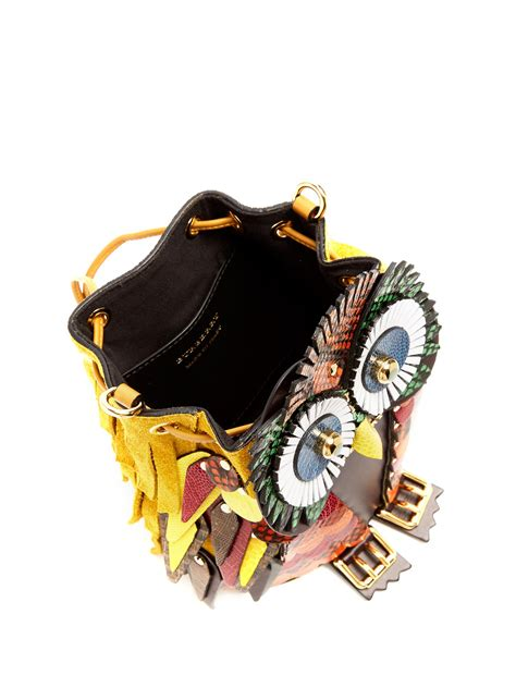 Owl Bag Multi Fungsi lyst burberry owl snakeskin leather and suede bag