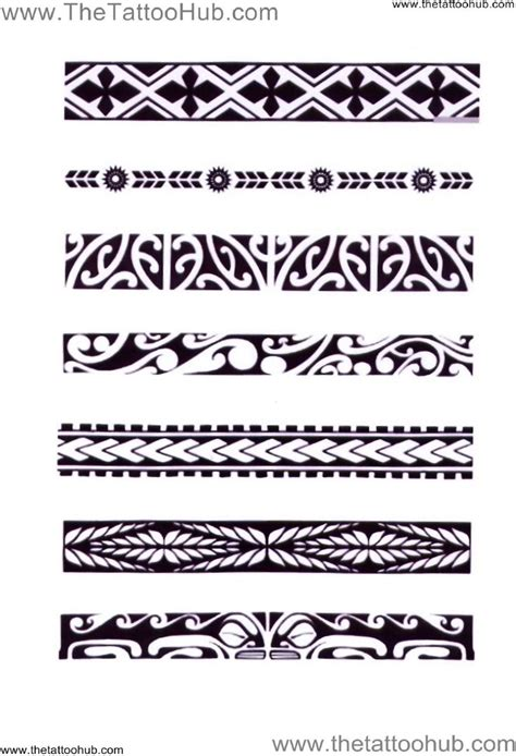 tribal band tattoos meaning polynesian arm bands hub s by type