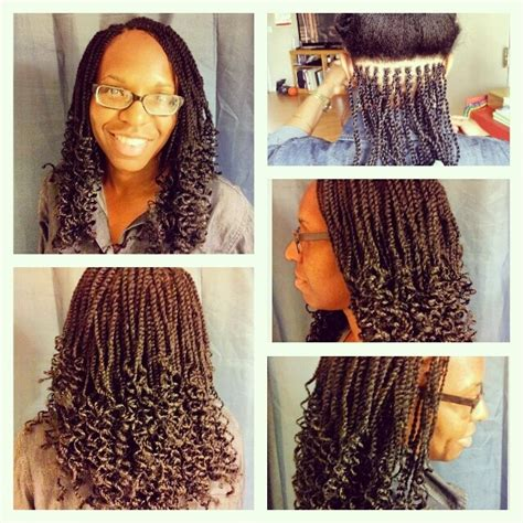 pictures of marley twist curled at the end kinky twist with curly ends i love doing kinky twists