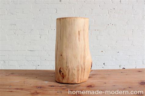 homemade modern ep log  table