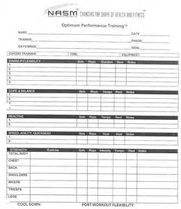 Opt In Form Templates by Nasm Workout Template Blank