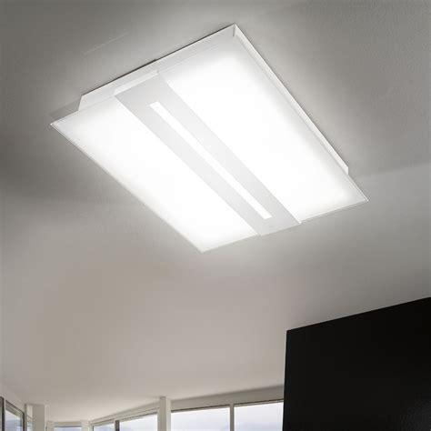 soffitto moderno ladario rettangolare da soffitto in vetro satinato