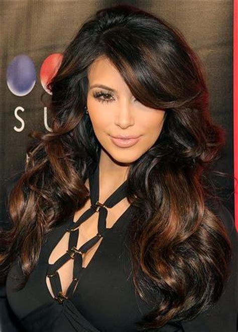 highlights for front sides only for dark brown hair jak zrobić balejaż na ciemnych włosach modne fryzury z