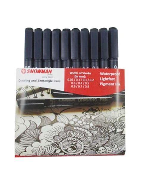 Snowman Drawing Pen 0 05 Black snowman drawing pen set of 10 technical pens htconline