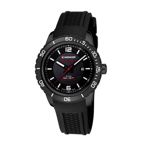 swiss army 1179 black kanvas wenger roadster mens swiss army black silicon
