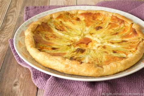 torta salata con fiori di zucca bimby ricette bimby