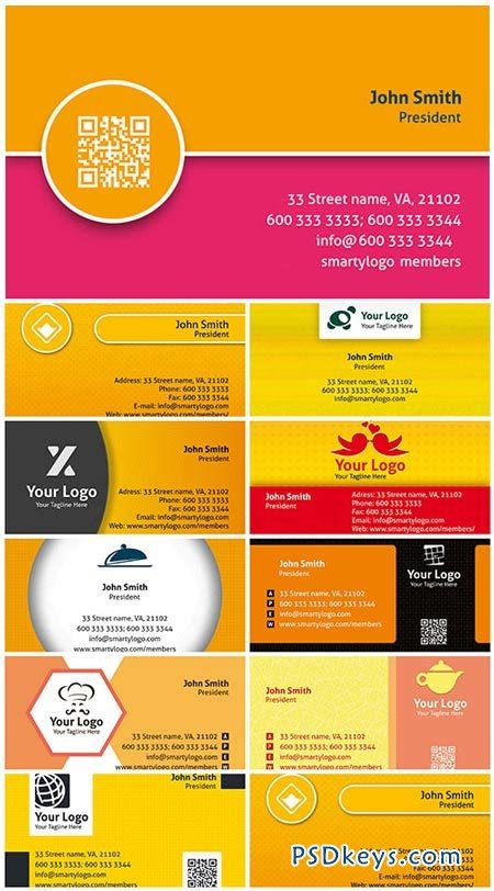 colored premium business cards psd templates vol 1 187 free