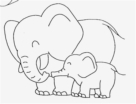 baby elephant coloring pictures cute baby