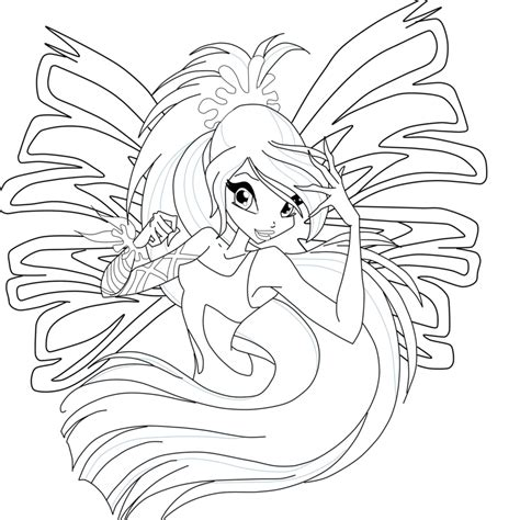 bloom sirenix coloring page by mskittencreations on deviantart