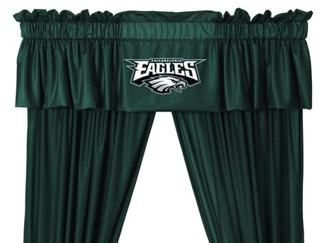 eagles curtains nfl philadelphia eagles 5pc curtains and valance set