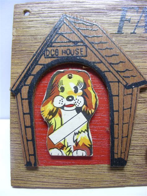 family dog house plaque vintage 1960 s family dog house wood plaque with 5 hanging