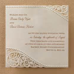 laser cut vintage lace wedding invitations flamingo