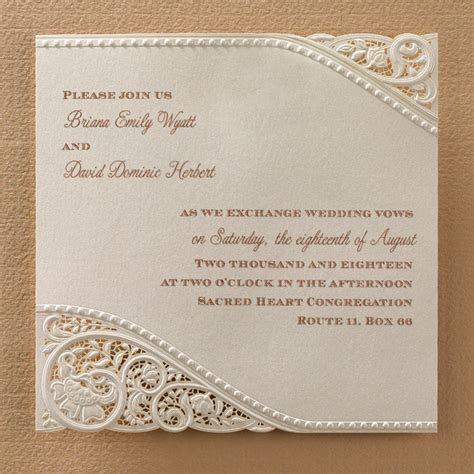 vintage invitations laser cut vintage lace wedding invitations sle