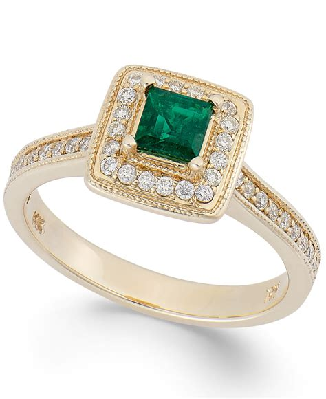 macy s us emerald 1 3 ct t w and 1 4 ct t w