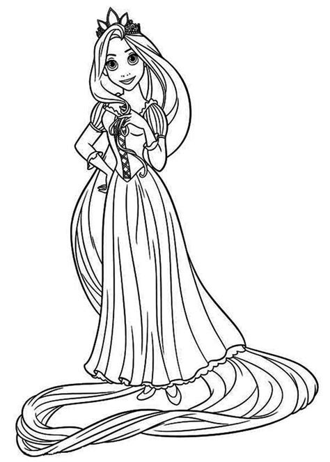 Rapunzel Coloring Pages To Download And Print For Free Coloring Pages Of Rapunzel