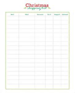 27 christmas gift list templates free printable word