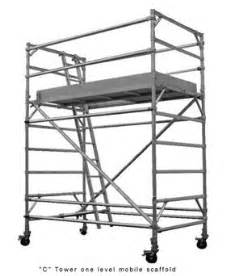 Scaffold Handrail Height Commercial Aluminium Mobile Scaffolds Ullrich