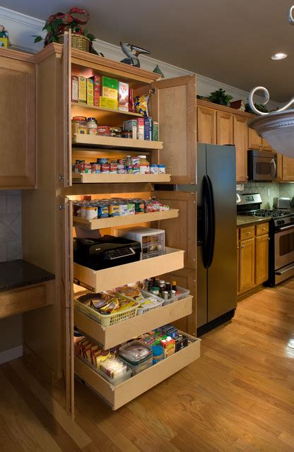 Kitchen Pantry Cabinet With Pull Out Shelves Pantry Pull Out Shelves Kitchen Other Metro By Shelfgenie National