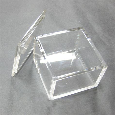 Acrylic Box customized colored and clear square small acrylic box with