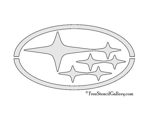 subaru emblem drawing subaru logo stencil free stencil gallery
