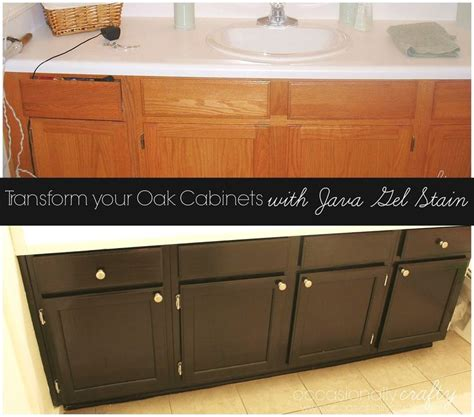 How To Restain Oak Cabinets by Transform Your Golden Oak Cabinets With Java Gel Stain