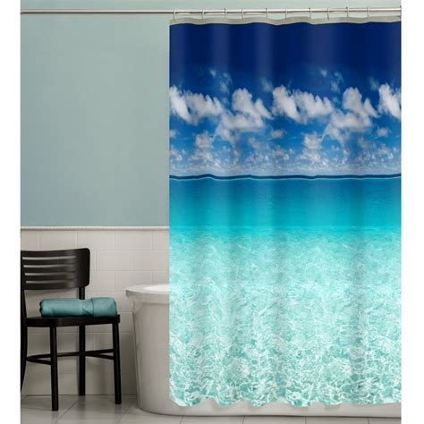 beach themed bathroom shower curtains ideas