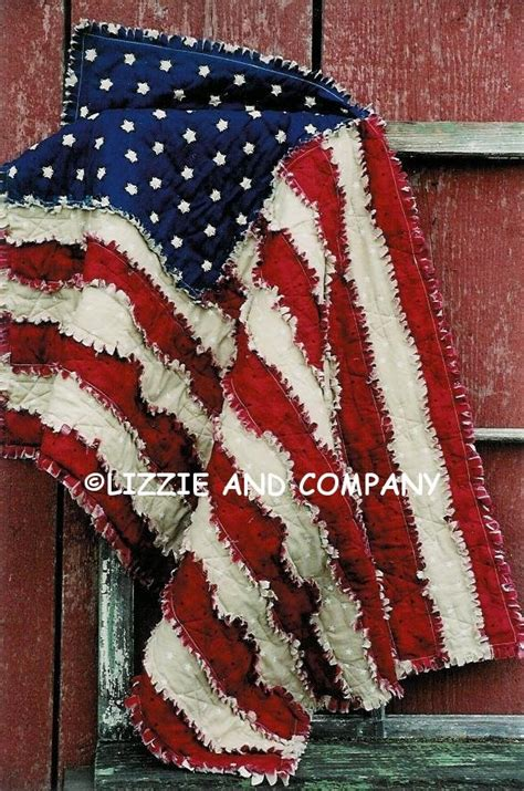 quilt pattern for american flag rag flag lap quilt 42 x 27 and larger 53 x