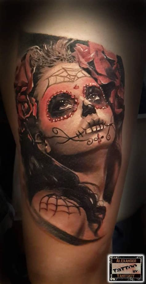 real looking tattoos realistic looking colored of portrait with