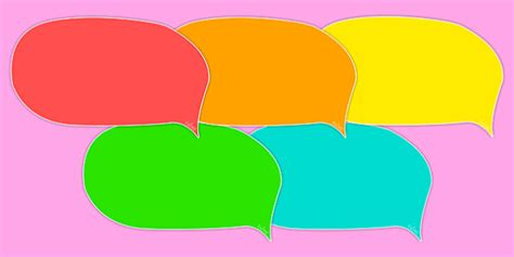 editable speech template editable speech bubbles multicolour speech