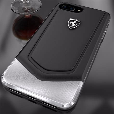 For Iphone 7 Plus Luxury Leather Ferrariii Limited 174 apple iphone 7 plus moranello series luxurious leather metal limited edition