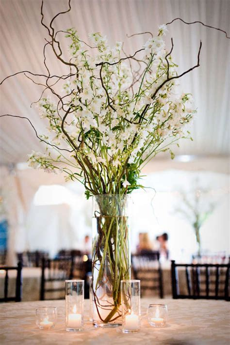 centerpieces with photos branch wedding centerpieces on
