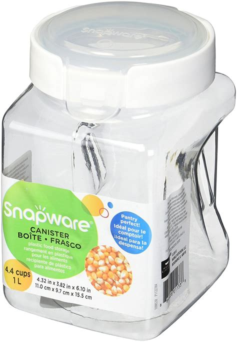 snapware containers snapware 1098538 airtight 4 4 cup square plastic food storage container new ebay