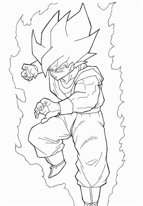 Coloring Page Goku by Coloring Pages Coloring Pages To Print