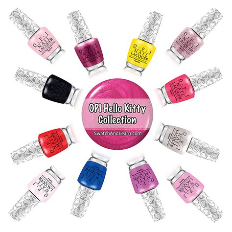Hello Set Swatch opi hello collection swatch and learn