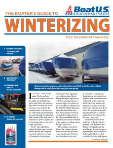 winterizing a boat in water free how to winterize a boat guide my boat life