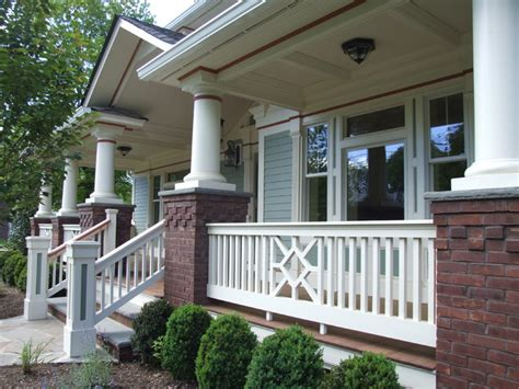Porch Banister by Exterior Porch Railing And Trim Traditional Porch
