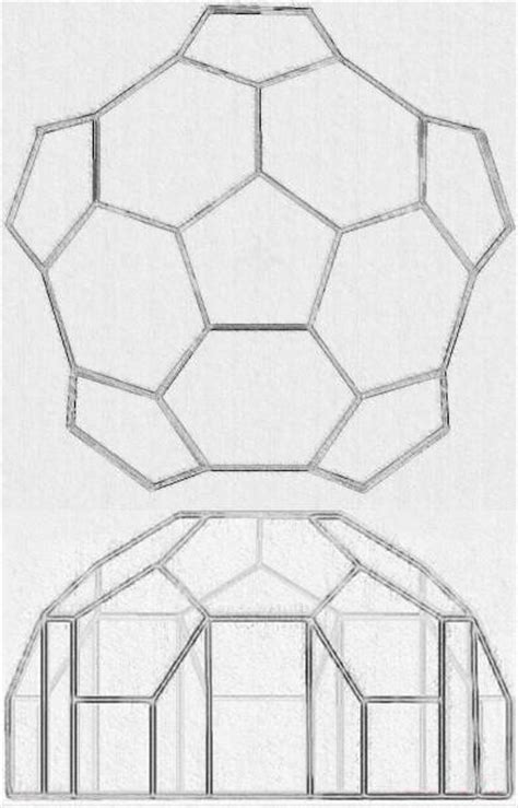 How To Make A Dome Shape Out Of Paper - plans for a simple geodesic greenhouse or shed
