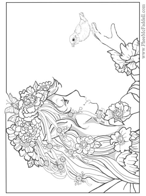coloring pages mermaids fairies fairy coloring pages for adults designs fairy mermaid