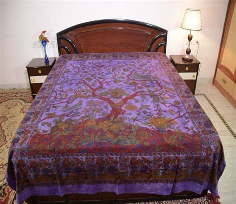 tree of life comforter cotton double tie dye tree of life print purple color