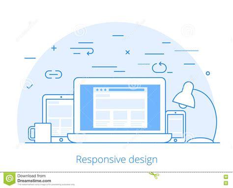 web layout vector lineart flat software responsive web design vector cartoon